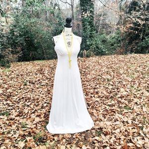 Vtg De Weese Designs Maxi Dress